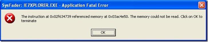 sysfader_error