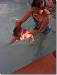 Mia enjoys a nice swim